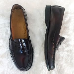 Cole Haan Burgundy Leather Penny Loafers Size 9